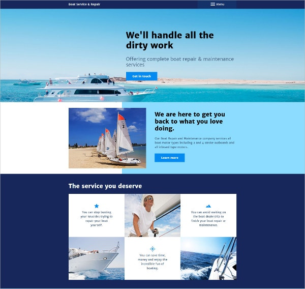 Boat Service Business & Services Joomla Template