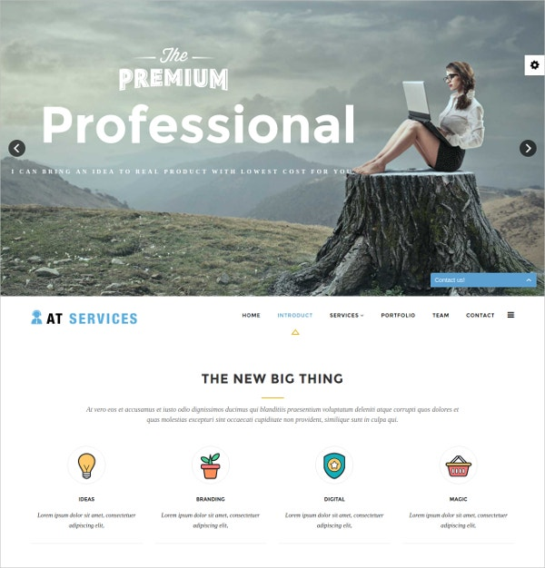 One Page Business & Services Joomla Template