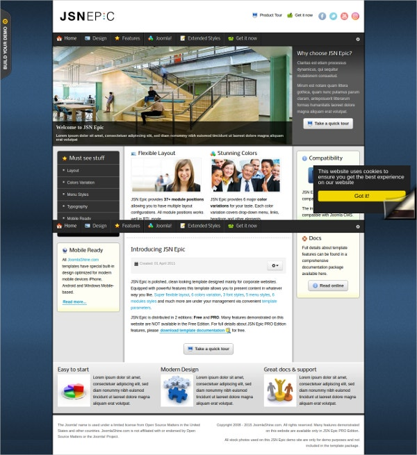 Responsive Design Business & Services Joomla Template