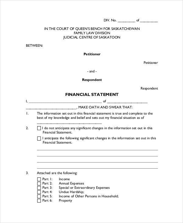 Legal Statement Template - 7+ Free Word, PDF Document Downloads ...