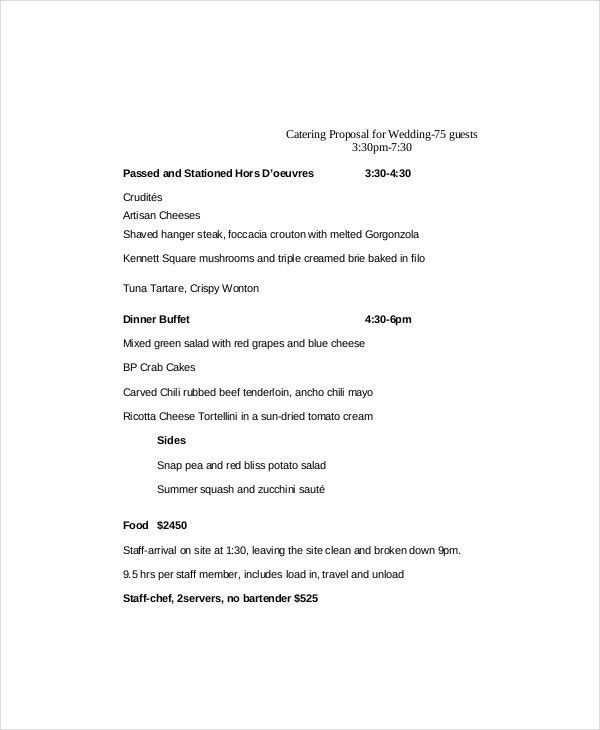 Catering Proposal Template   Free Word Pdf Documents Download