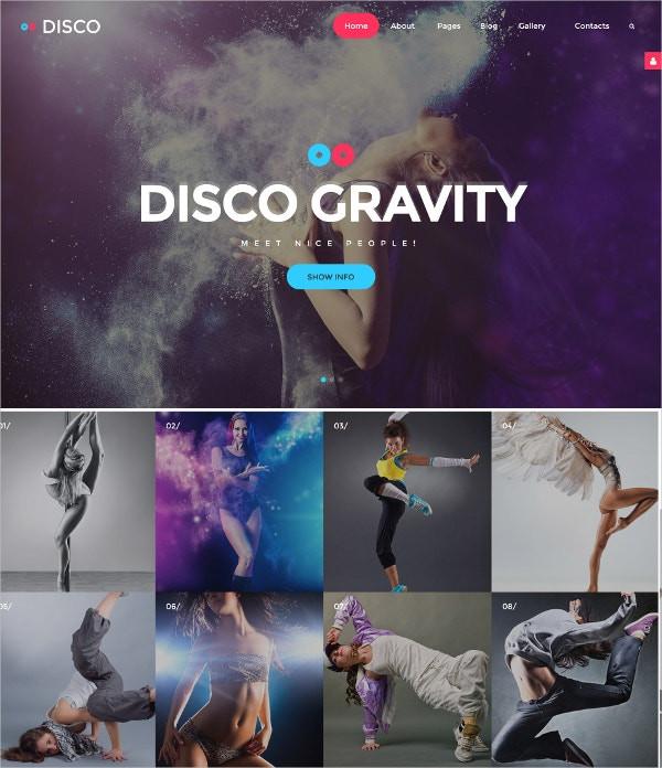 disco dance party joomla template