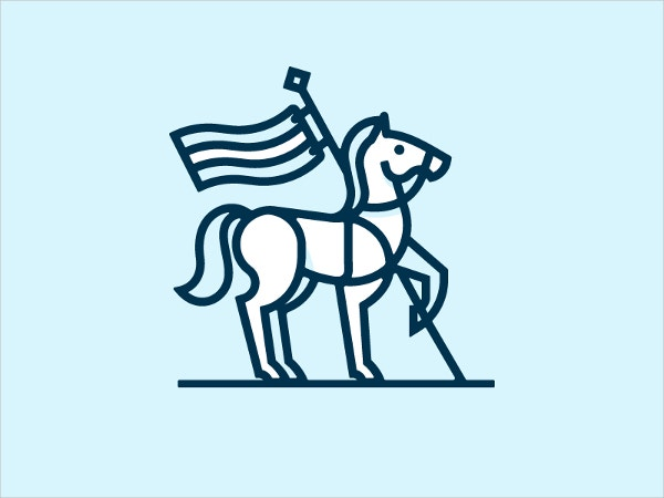 Flag Horse Logo