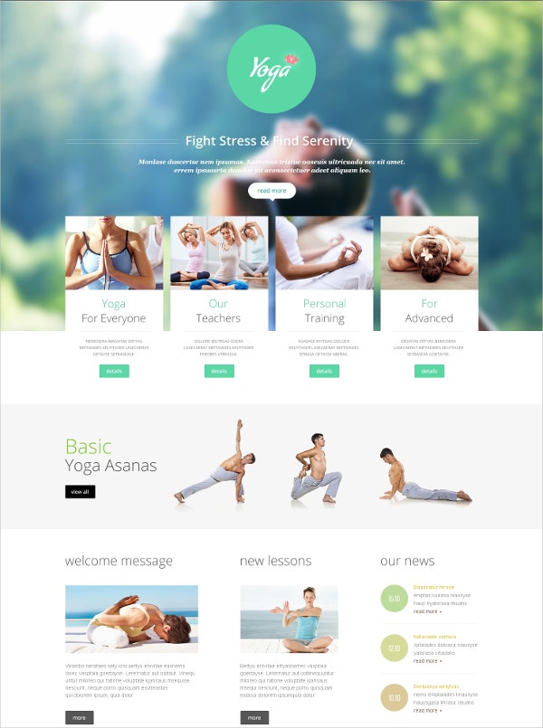 yoga club fitness joomla template