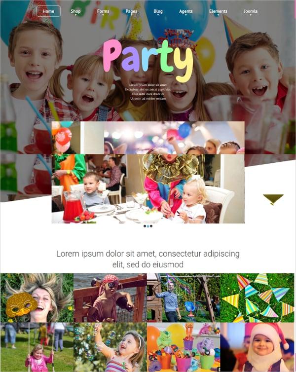 Joomla Kids Party Club Template