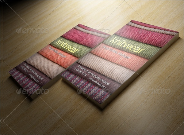 Knitwear Funky Business Card