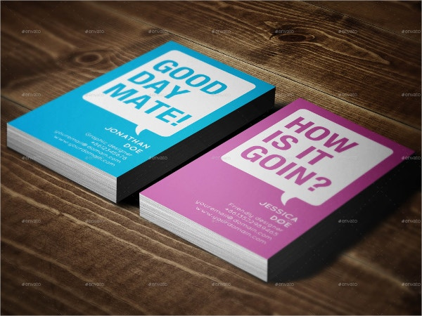 creative funky business card