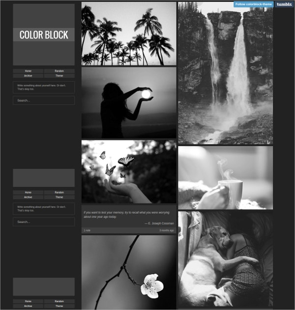 Dark Block Tumblr Theme