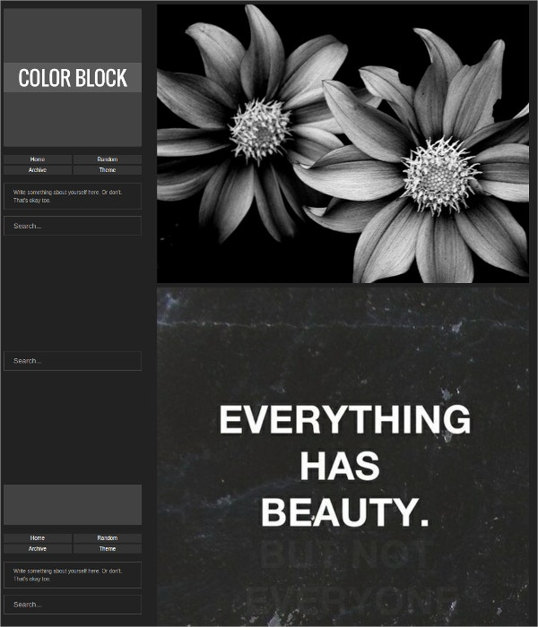 Beautiful Dark Tumblr Theme