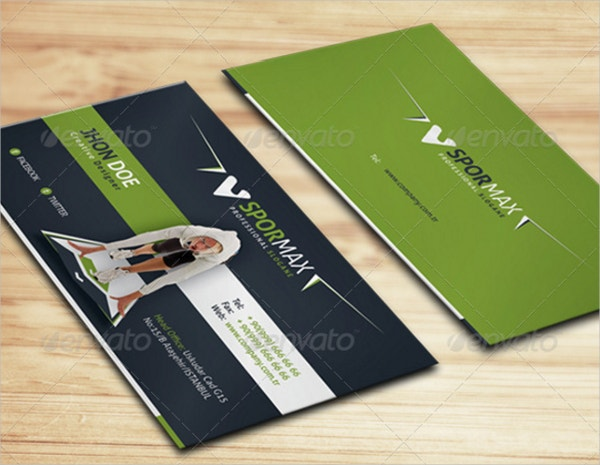 Fitness Business Cards Free PSD AI Vector EPS Format - Fitness business card template