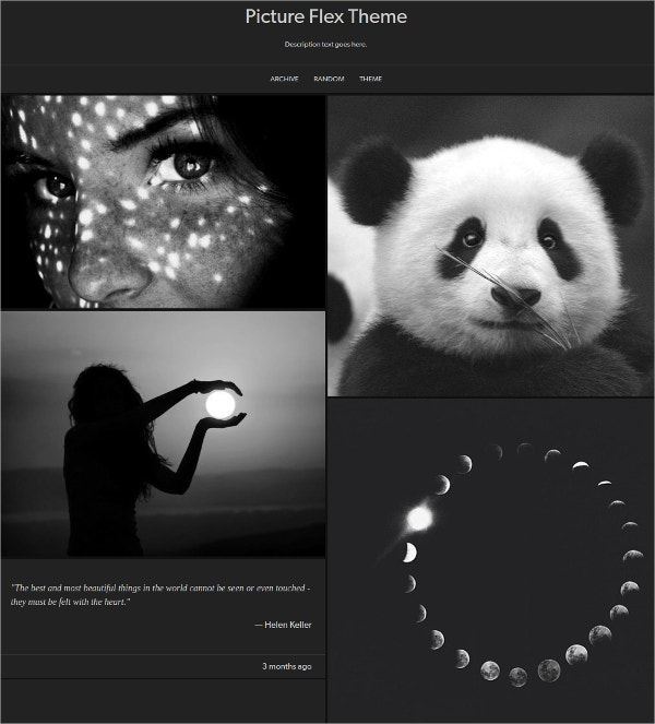 Amazing Dark Tumblr Theme