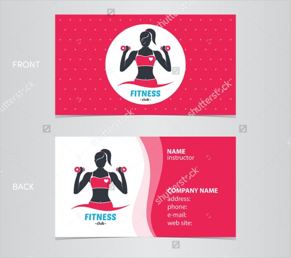 Fitness Woman Business Card