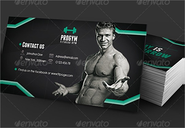26  fitness business card templates
