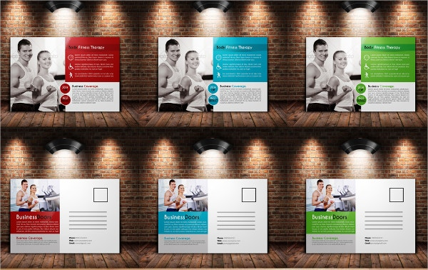 Stylish Fitness Business Card