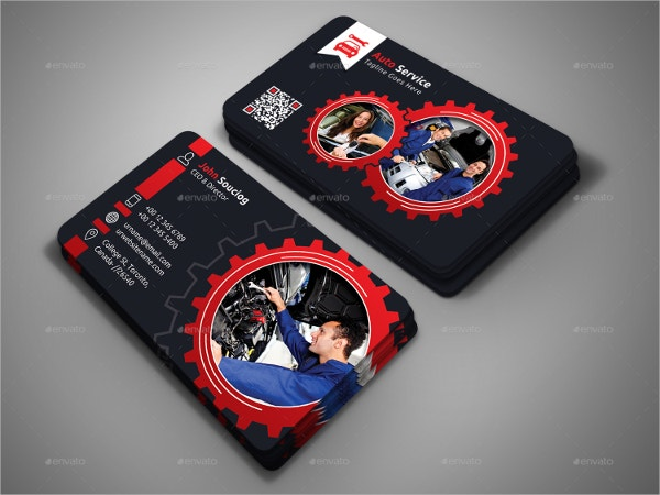Automotive Business Cards Free PSD AI EPS Format Download - Mechanic business cards templates free