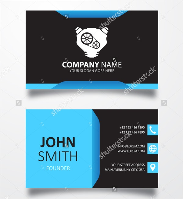 22 automotive business cards free psd ai eps format download engine sign automotive business card template fbccfo Choice Image