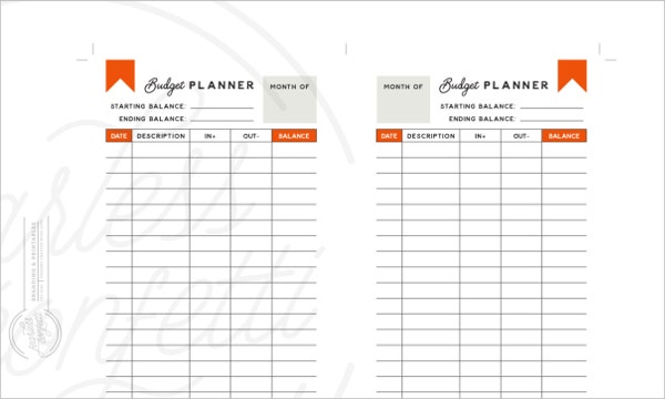 5  daily budget planner templates