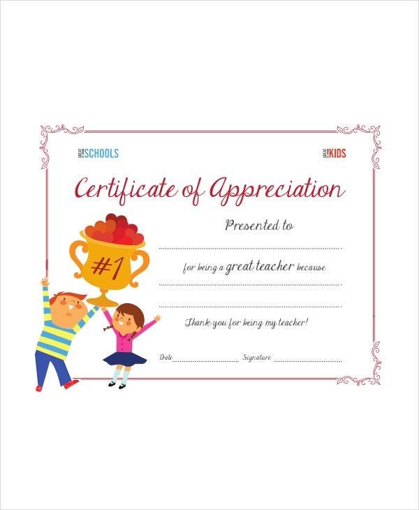teacher appreciation award template - Teacher Certificate Template