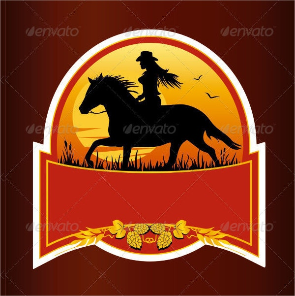 Western Beer Label Design