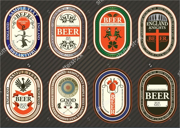 Vector set of Beer Label Templates