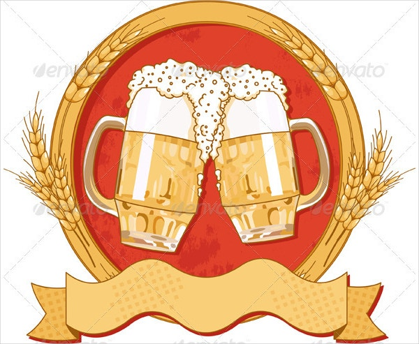 Oval Beer Label Design