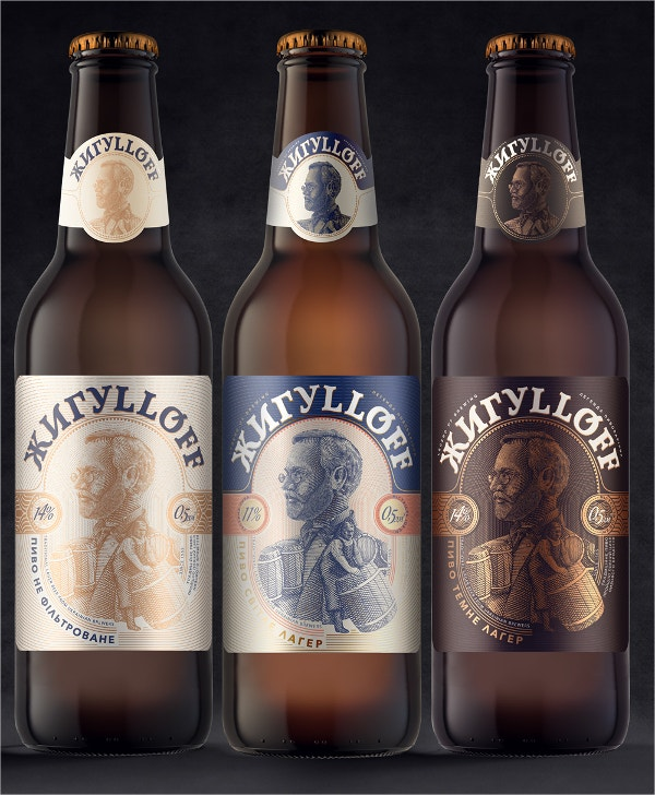 Luxury Beer Label Design