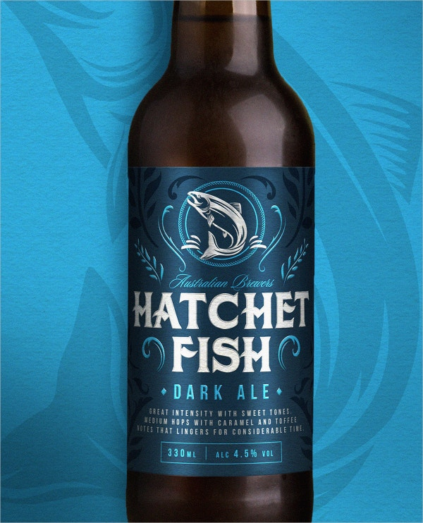 Hatchet Fish Dark Beer Label