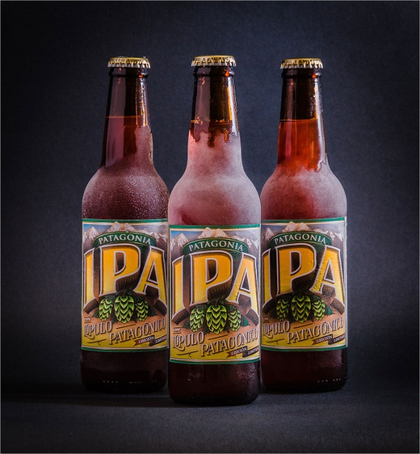 Patagonia Ipa Beer Label Design