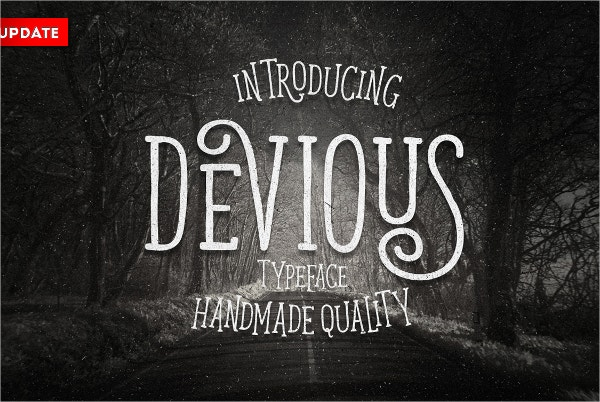 devious typeface poster fonts
