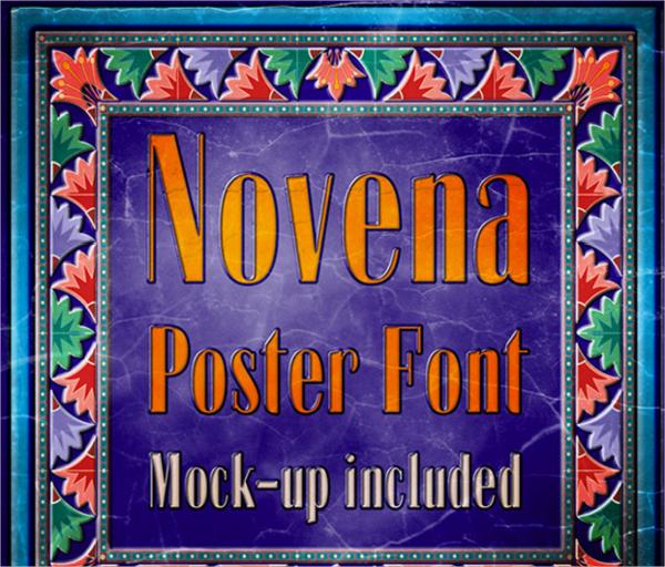 Graphic Novena Poster Font