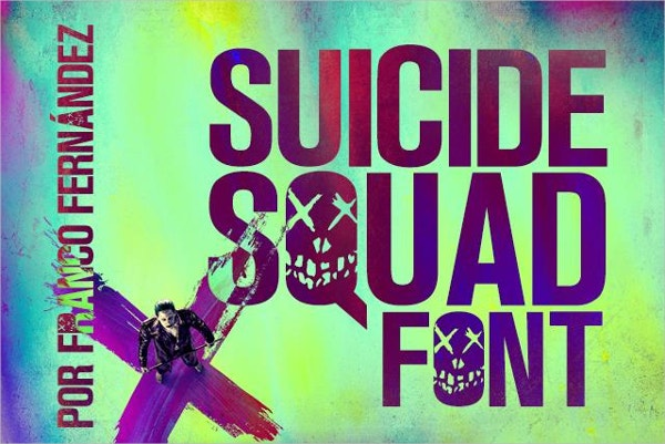 Suicide Squad Poster Font