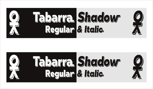 tabarra shadow font