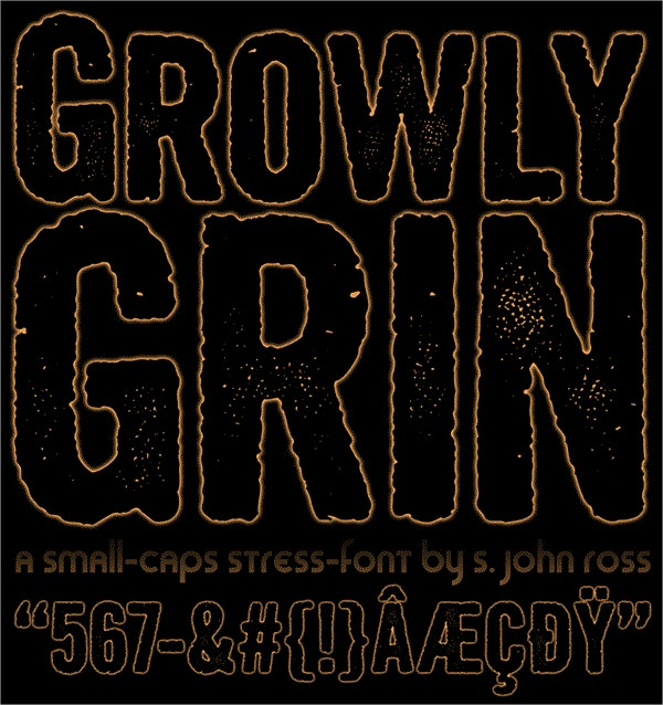 Growly Grin font