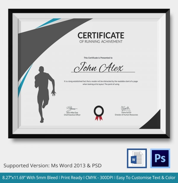 Certificate of Running Achievement