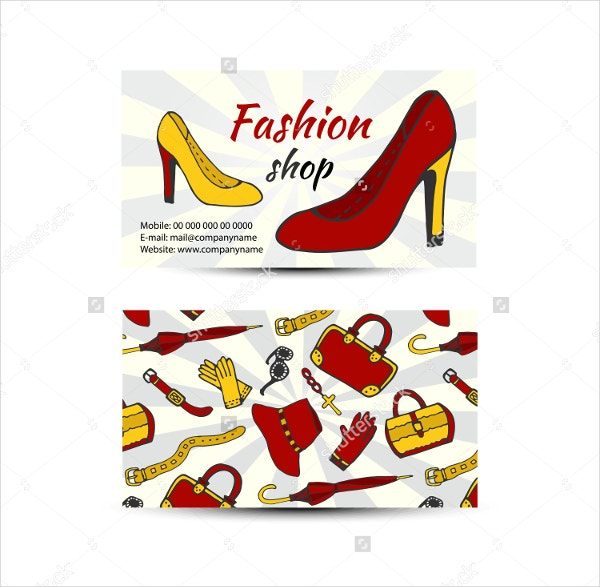 business card for fashion shop