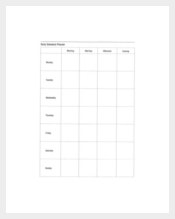 Daily Schedule Planner Example