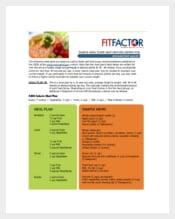 Daily Meal & Menu Plan Template