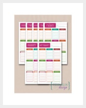 Sample School Student Daily Planner
