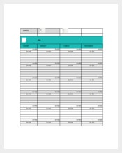 Student Daily Assignment Planner Template