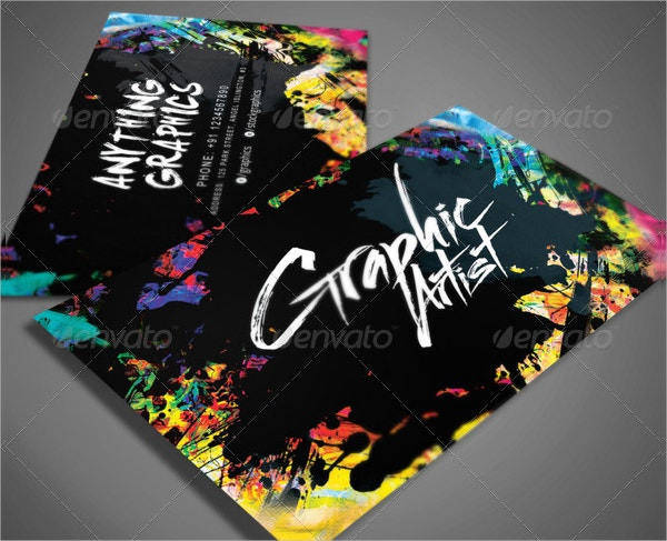 31 artist business cards free psd ai vector eps format graphic designer business card reheart