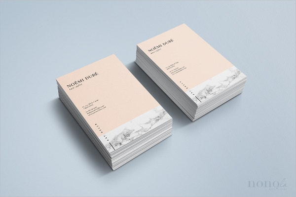 stylish artist business card