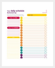 Academic Daily Schedule Template