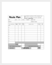 Daily Route Plan Template