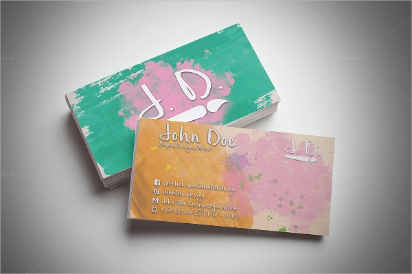 creative artistic business card
