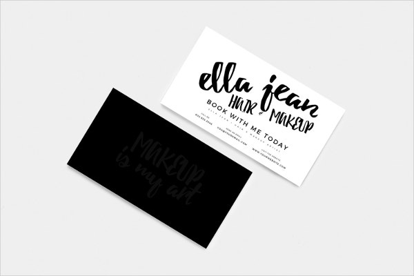 hair makeup artist customizable business card