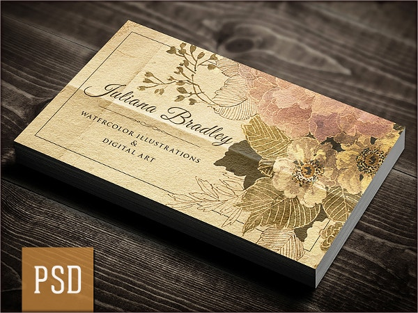 40 Artist Business Cards In Word Psd Ai Vector Eps Format