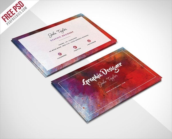 artist abstract business card template