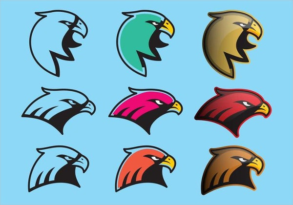Colorful Hawk Logo Vectors