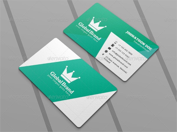 Corporate Die Cut Business Card