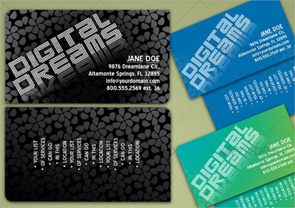 Patterned Die Cut Business Card